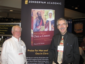 Phil with his Zondervan editor Verlyn Verbrugge (on the left)