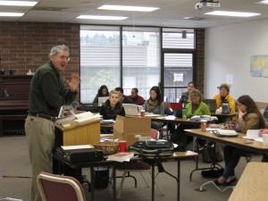 Phil teaching NS561 at Fuller