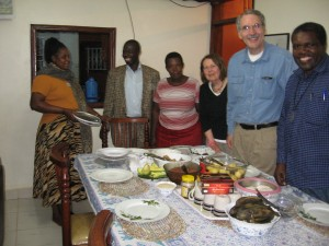 Phil and Nancy in the home of Medad and Connie, our Ugandan hosts